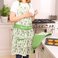 Personalised Bake Off Apron And Oven Mitt Set