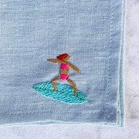 Bespoke Hand Embroidered Linen Napkin