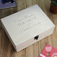 Our Mum's The Best Personalised Wooden Keepsake Box