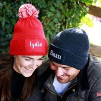 Personalised Patch Winter Beanie Hat