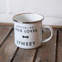 Personalised Pet Lover Enamel Mug