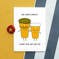 Funny Beer Father's Day Card
