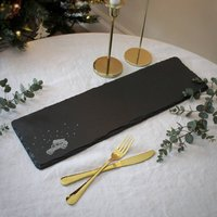 O Christmas Tree Long Slate Serving Platter