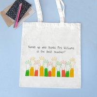 'Hands Up' Personalised Teacher Bag
