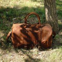 Vintage Look Leather Weekend Bag