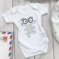 'Boo Hoo' Funny New Baby Gift