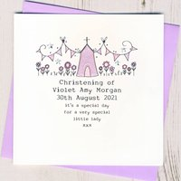 Personalised Christening Card, Pink/Blue