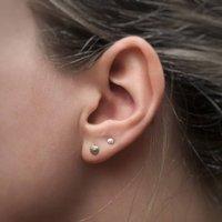 Miniature Silver Shell Earrings, Silver