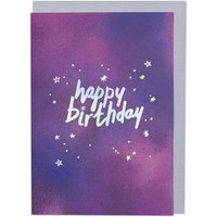 'Happy Birthday' Starry Card