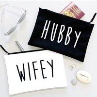 Hubby And Wifey Honeymoon Travel Bags