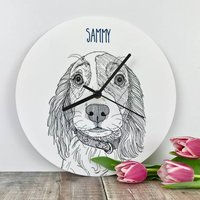 Personalised Pet Portrait Clocks