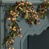 Tis The Season Pre Lit Copper Berry Garland