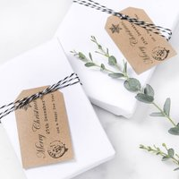 Rustic Merry Christmas Gift Tags