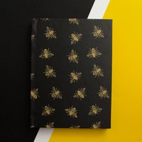 Bees Print Notebook, Lined, Plain Or Graph Paper