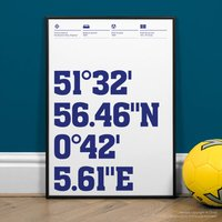 Southend United Football Stadium Coordinates Prints