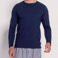 Men's Long Sleeved T Shirt In Navy