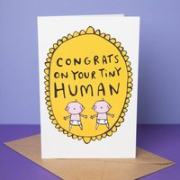 Congrats On Your Tiny Humans Twin Card