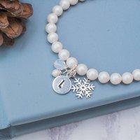 Personalised Winter Wedding Pearl Bracelet