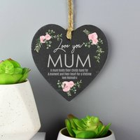 Personalised Slate Heart Hanging Decoration