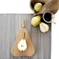 Wooden Pear Chopping/Serving Orchard Board