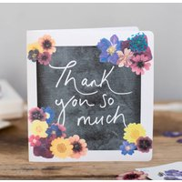 'Thank You So Much' Floral Print Card