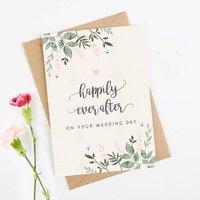 Wedding Card Botanical Blush