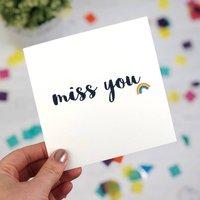 Miss You Rainbow Card