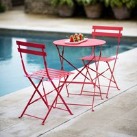 Small Bistro Set In Red