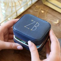 Personalised Starry Initials Square Jewellery Box
