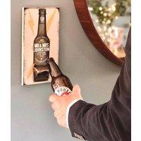 Personalised Beer Bottle Opener Couples Wedding Gift