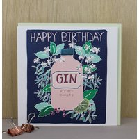 Happy Birthday Card Gin Theme
