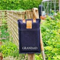 Personalised Denim And Suede Garden Kneeler