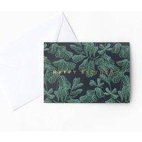 Fiddle Leaf Fig Patterned Birthday Card