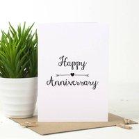 Anniversary Love Arrow Card