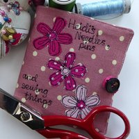 Personalised Dotty Flowers Needle And Sewing Case