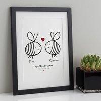 Personalised Together Forever Valentine / Wedding Print
