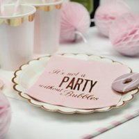 Pink And Gold Foil Prosecco Cocktail Napkins
