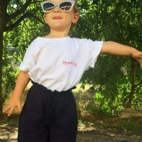 Personalised Hand Embroidered Unisex Kids T Shirt