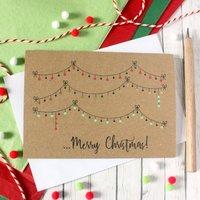 Christmas Bauble Card, Traditional Festive Card