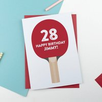 Personalised Table Tennis Birthday Card