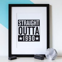 Personalised 'Straight Outta Compton' Birth Year Print