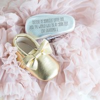 Personalised Baby Booties, Gold/Silver