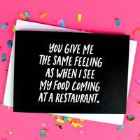 Funny Food Boyfriend Or Girlfriend Card