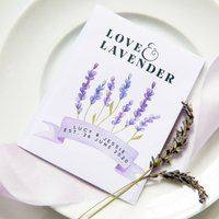 10 Love And Lavender Personalised Seed Packet Favours