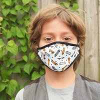 Skateboard Sustainable Childrens Reusable Face Mask