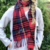 Personalised Classic Red Tartan Scarf