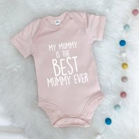 My Mummy Is The Best… Personalised Babygrow, Blue/Grey/Navy