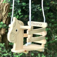 Personalised Wooden Horse Swing With Painted Face