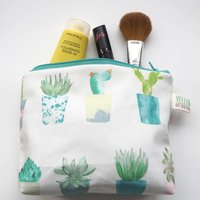 Small Handmade Succulent And Cactus Make Up Bag