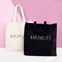 #Mumlife Tote Bag, Black